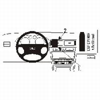 Brodit center mount voor Audi A6 98-04