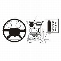 Brodit center mount v. VW Golf V 04-06