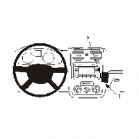 Brodit angled mount v. VW Golf V 04-09