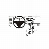 Brodit angled mount v. Volvo C30 06-07