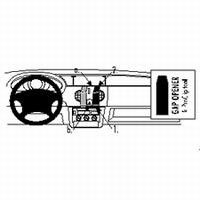 Brodit center mount v. Renault Kangoo 98-02