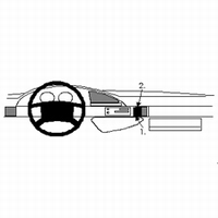 Brodit angled mount v. Peugeot 806 95-01