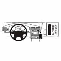 Brodit angled mount v. Seat Ibiza 00-01 Cordoba 00-02