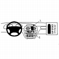 Brodit angled mount v. Renault Megane 96-02 Scenic 96-99