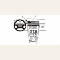 Brodit center mount v. Audi A4 Sedan 95-00 Avant 95-01