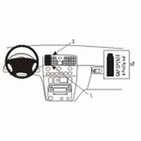 Brodit center mount v. Volvo V40 01-03