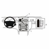 Brodit center mount v.Mercedes Benz C-klasse 00-06 180-320