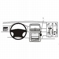 Brodit angled mount v. VW Sharan 01-03