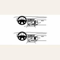Brodit angled mount v. BMW 5 E34 88-95