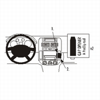 Brodit angled mount v. VW Polo 02-04