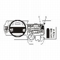 Brodit angled mount v. VW Multivan 03-