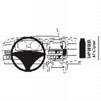 Brodit angled mount v. BMW 5 reeks E60 04-10
