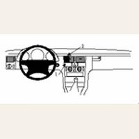 Brodit center mount v. MB E-klasse (200-420) Combi 95-02