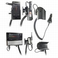 Brodit draaib. houder actief met laadkabel v. Sony Ericsson