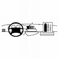 Brodit center mount voor Peugeot Expert 97-06