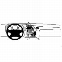 Brodit angled mount v.Saab 9-5 98-06 (blokkeert bekerhouder)