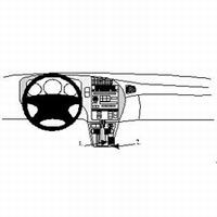 Brodit console mount v. Saab 9-5 98-06