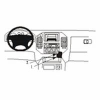 Brodit angled mount v. Mitsubishi Pajero 00-06
