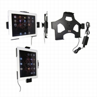 Brodit act.draaib.houder vaste inst.v. iPad2 met USB kabel