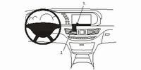 Brodit center mount Mercedes S-klasse  06-
