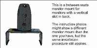 Brodit monitor mount tus.stoelen v.Volvo V50 08-12