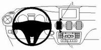 Brodit centrale mount voor Mercedes A Klasse 13-