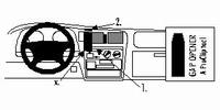 Brodit center mount voor Toyota Hilux 98-05