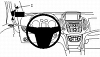 Brodit left mount high v. Opel Zafira 12-
