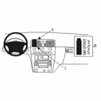 Brodit center mount v. Volvo S40 01-03