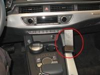 Brodit console mount v. Audi A4 16-, Audi A5/S5 17-