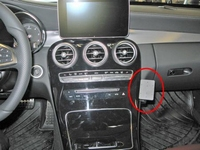 Brodit angled mount v.Mercedes Benz C-klasse 15-