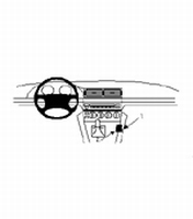 Brodit console mount v. BMW 520/540/M5 E39 96-03