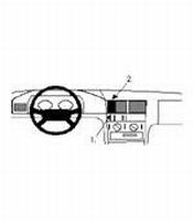 Brodit center mount v.Mercedes Benz C-klasse 93-99