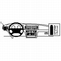 Brodit dashmount linkse montage v. VW Passat 97-04