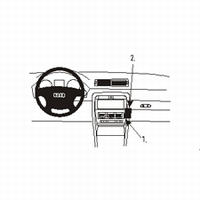 Brodit angled mount v. Audi A4 01-07